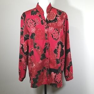 Alia Beaded and Sequin Long Sleeve Blouse